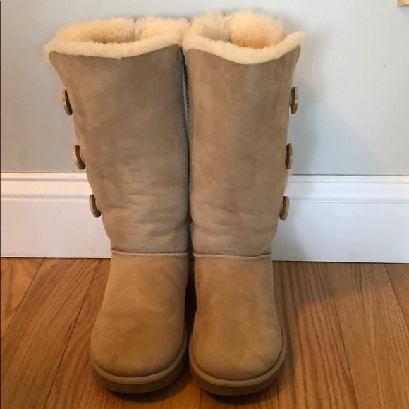1892f231700 UGG Tall Bailey Button in Sand color
